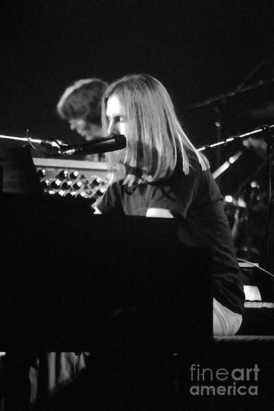 Photograph - Grateful Dead Concert Brent Mydland Black And White by Susan Carella