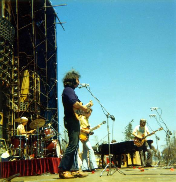 Jerry Garcia Photograph - Grateful Dead Live by Ed Perlstein