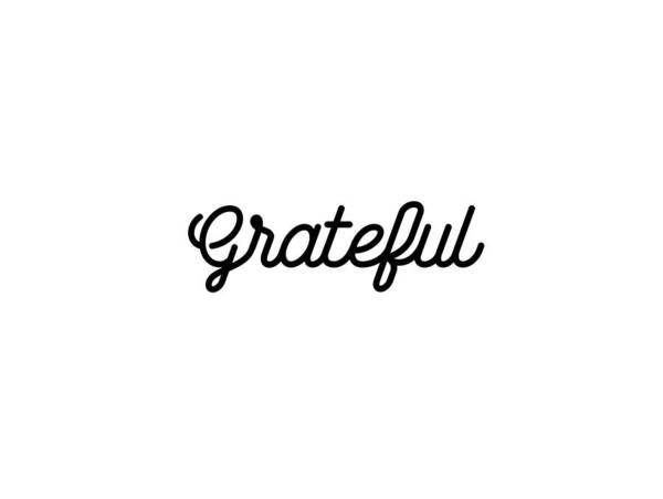 Wall Art - Mixed Media - Grateful - Modern, Minimal Typographic Print - Black And White - Gratitude Poster by Studio Grafiikka