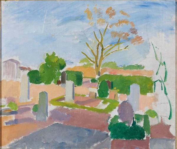 Wall Art - Painting - Graveyard, Christianso By Karl Isakson, 1911-1913 by Karl Isakson