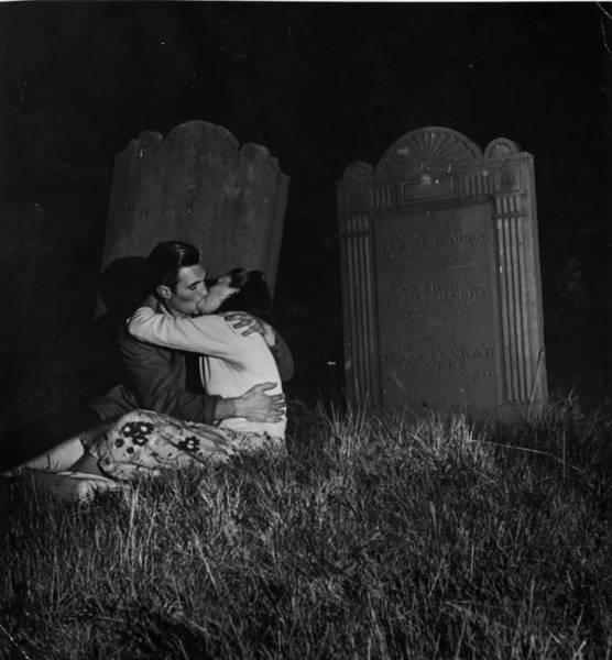 Girlfriend Photograph - Graveyard Kiss by Charles Hewitt