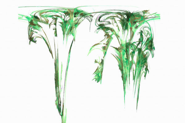 Digital Art - Gravity Drip Green by Don Northup