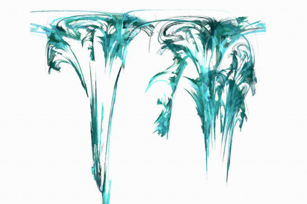 Digital Art - Gravity Drip Light Blue by Don Northup