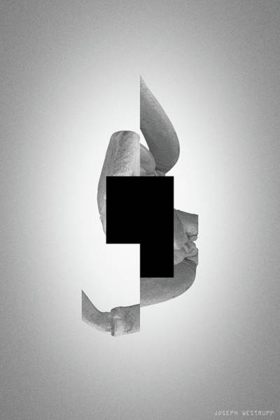 Photograph - Gray Comma - Surreal Abstract Crab Shell With Square Shape by Joseph Westrupp