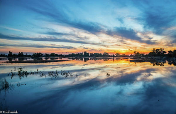 Photograph - Gray Lodge Sunset by Mike Ronnebeck