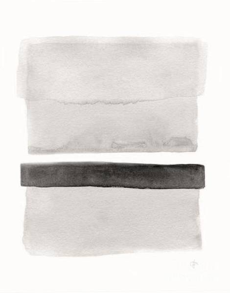 Wall Art - Painting - Gray Monochrome Abstract  by Vesna Antic