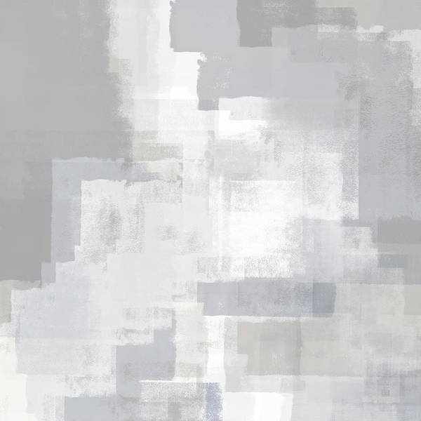 Digital Art - Gray On Grey Abstract by Menega Sabidussi
