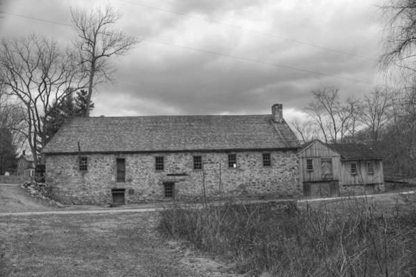 Photograph - Grey Skies Over Fieldstone - Waterloo Village by Christopher Lotito