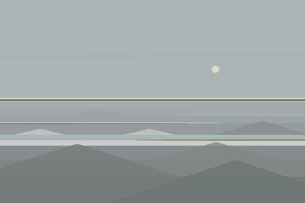 Digital Art - Gray Waves by Val Arie