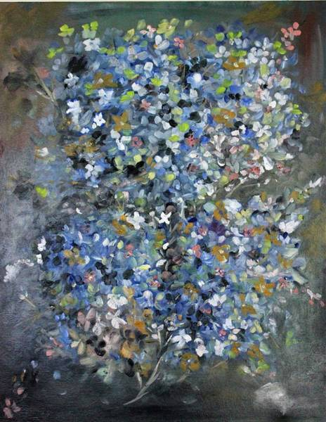 Painting - Grays And Blues by Florence Ferrandino