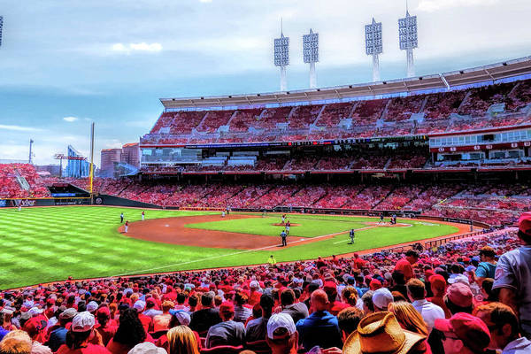 Painting - Great American Ball Park Cincinnati Reds Baseball Ballpark Stadium by Christopher Arndt