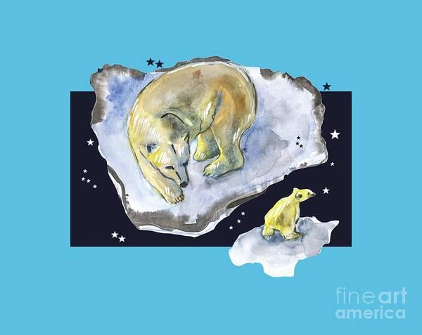 Drawing - Great Bear Family -  Ursa Major Constellation by Ariadna De Raadt