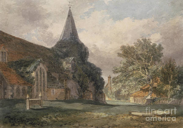 Wall Art - Painting - Great Bookham Church, 1793 by Joseph Mallord William Turner