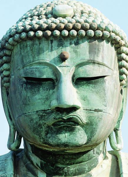 Kamakura Wall Art - Photograph - Great Buddha Statue, Close-up by Grant Faint