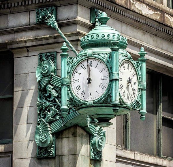 Wall Art - Photograph - Great Clock Of Marshall Fields - Chicago by Daniel Hagerman