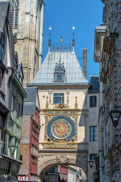 Wall Art - Photograph - Great Clock, Rouen, Normandy, France by Jim Engelbrecht