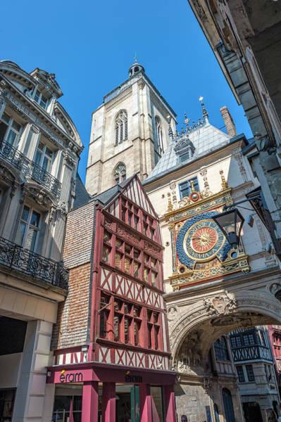 Wall Art - Photograph - Great Clock, Rouen, Normandy, France by Lisa S. Engelbrecht