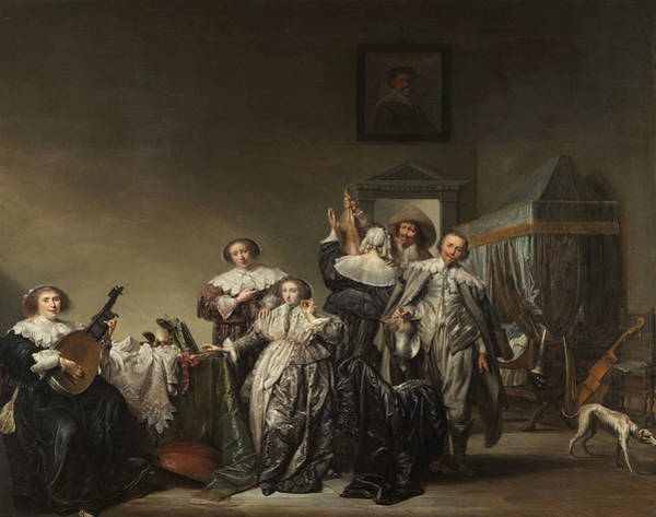 Wall Art - Painting - Great Company by Pieter Codde