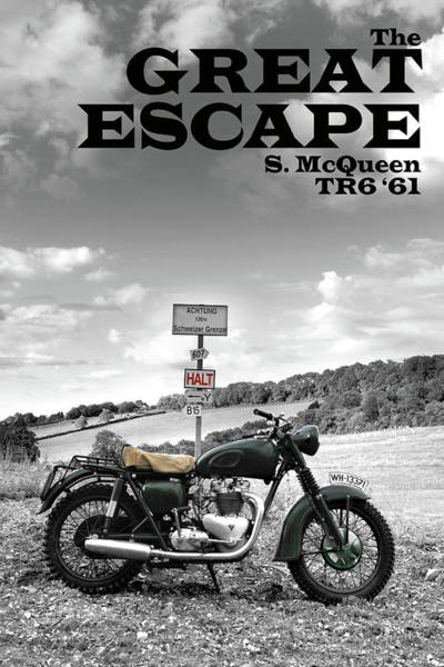 Wall Art - Photograph - Great Escape Motorcycle by Mark Rogan