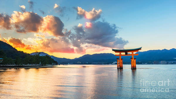 Wall Art - Photograph - Great Floating Gate O-torii On Miyajima by Cowardlion
