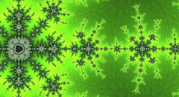 Digital Art - Great Fractal Awakening Green by Don Northup