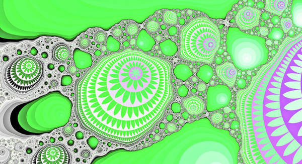 Digital Art - Great Fractal Mountain Green Fine Art  by Don Northup