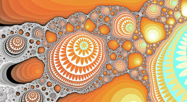 Digital Art - Great Fractal Mountain Orange Art  by Don Northup
