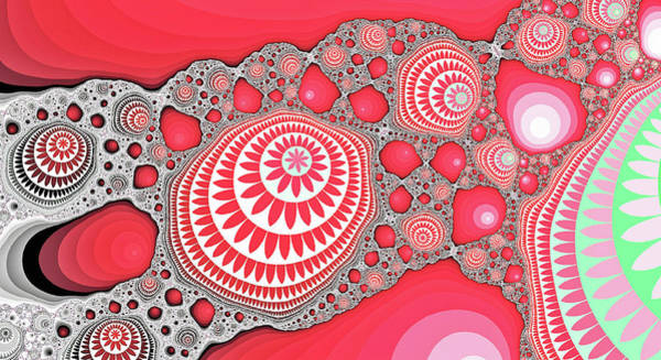 Digital Art - Great Fractal Mountain Red Abstract Art by Don Northup