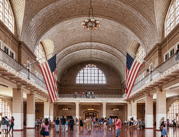 Photograph - Great Hall Ellis Island by Sharon Popek