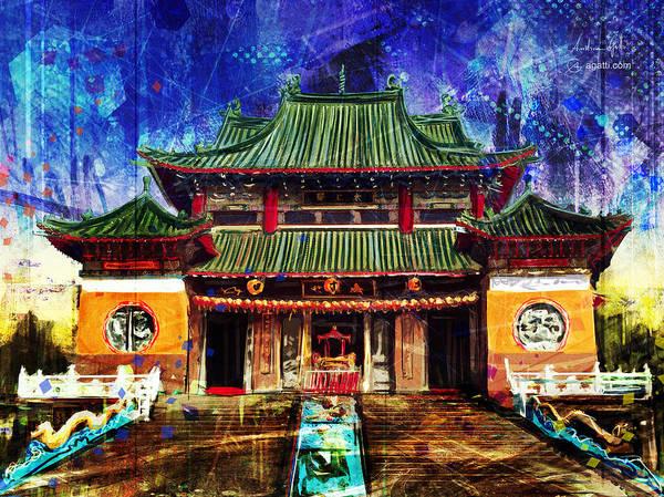 Orange County Digital Art - Great Peace Temple by Andrea Gatti