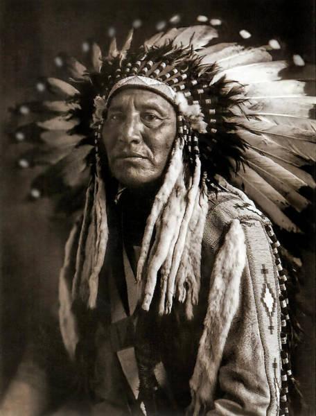 Wall Art - Photograph - Great Plains Chieftain C. 1908  by Daniel Hagerman