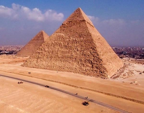 Giza Photograph - Great Pyramids Of Giza, Egypt by Evan Reinheimer