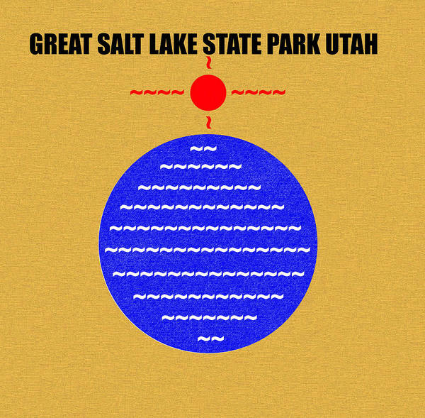 Wall Art - Digital Art - Great Salt Lake S. P. Utah by David Lee Thompson