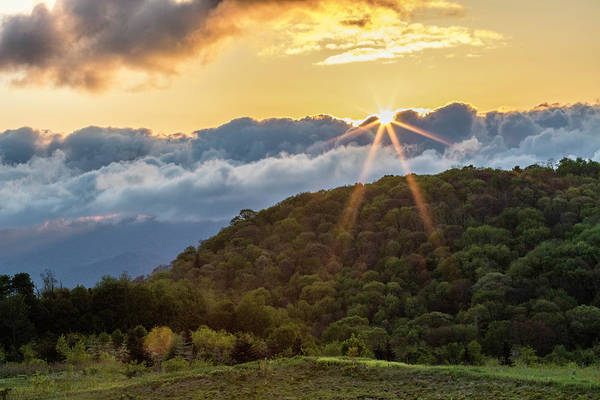 Wall Art - Photograph - Great Smoky Mountain Sunrise by Darrell Gregg