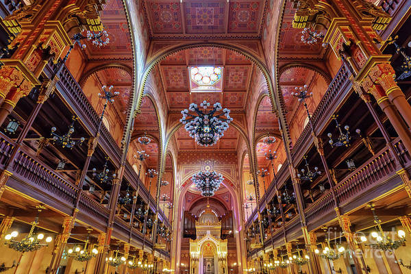 Wall Art - Photograph - Great Synagogue In Budapest by Delphimages Photo Creations