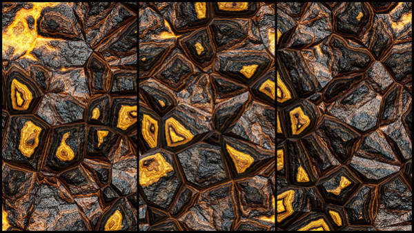 Digital Art - Great Wall Abstract Triptych by Don Northup