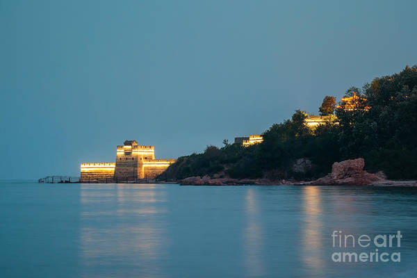 Photograph - Great Wall At Night by Iryna Liveoak