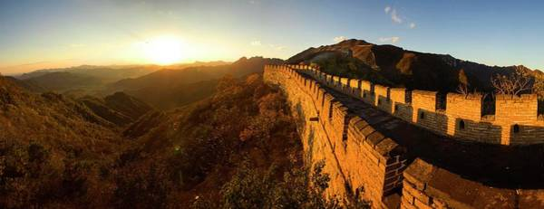 City Of David Photograph - Great Wall At Sunset In Autumn by David H. Collier