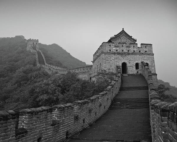 Wall Art - Photograph - Great Wall, China, On A Very Misty by Jonathan Lewis