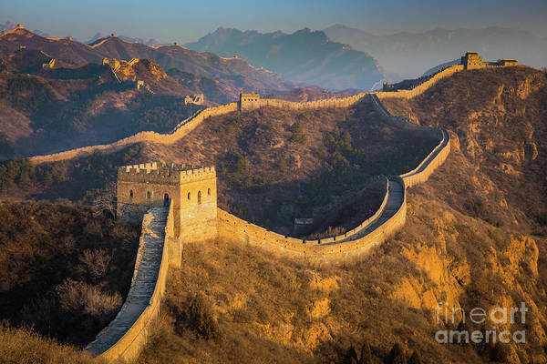 Wall Art - Photograph - Great Wall Last Light by Inge Johnsson