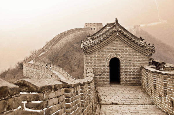 Beauty Of Nature Wall Art - Photograph - Great Wall Of China by Delphimages Photo Creations