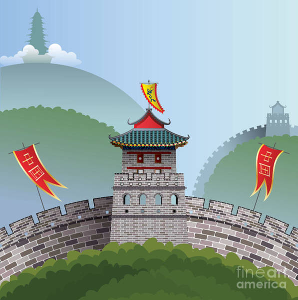 Wall Art - Digital Art - Great Wall Of China by Nikola Knezevic