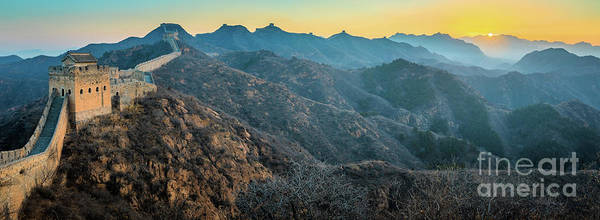 Wall Art - Photograph - Great Wall Panorama by Inge Johnsson