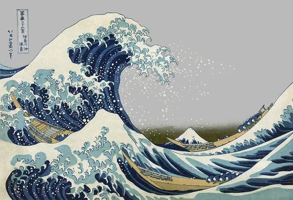 Wall Art - Photograph - Great Wave Of Kanagawa Off Mt. Fuji - T-shirt by Daniel Hagerman