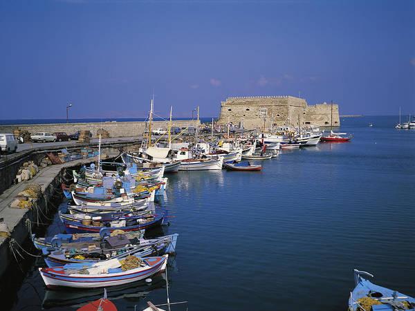 Wall Art - Photograph - Greece, Crete, Heraklion Harbour by Sylvester Adams