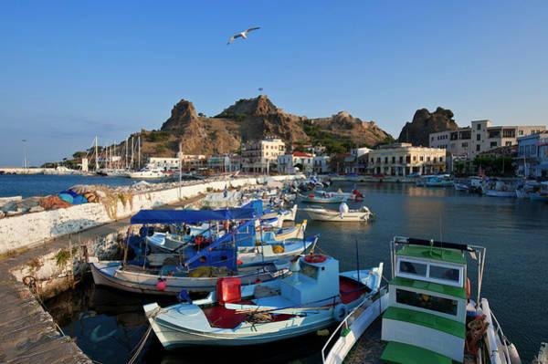 Greece Photograph - Greece, Lemnos Island, Myrina, Capital by Guiziou Franck / Hemis.fr