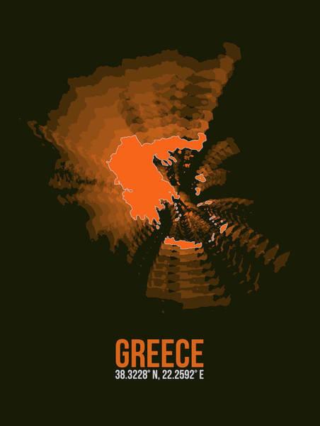 Wall Art - Digital Art - Greece Radiant Map I by Naxart Studio