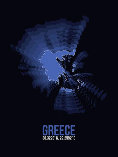 Wall Art - Digital Art - Greece Radiant Map II by Naxart Studio