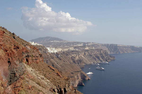 Wall Art - Photograph - Greece, Santorini, Cruise Ships Near by Andrew Holt