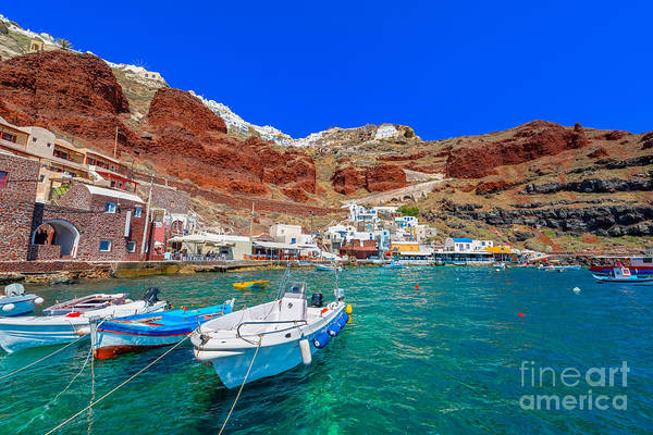 Wall Art - Photograph - Greece Santorini Island In Cyclades by Korpithas